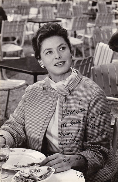 Ingrid Bergman, Paris, 1960